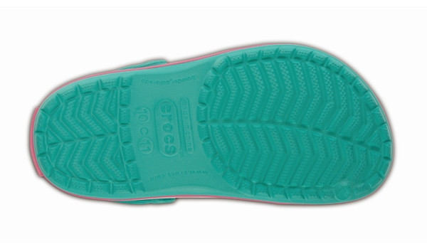 Kids Crocband, Island Green/Pink Lemonade 3