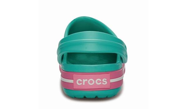 Kids Crocband White, Island Green/Pink Lemonade 2