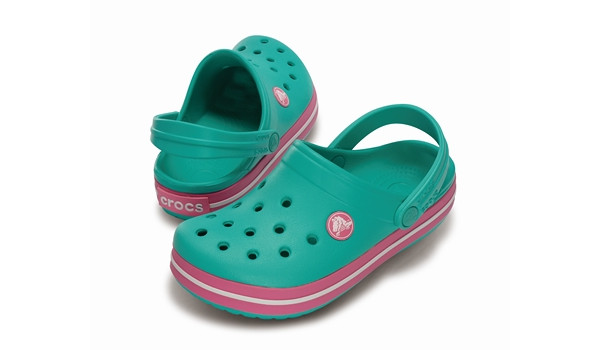 Kids Crocband White, Island Green/Pink Lemonade 4