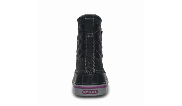 Duck Boot Women, Black/Light Grey 2