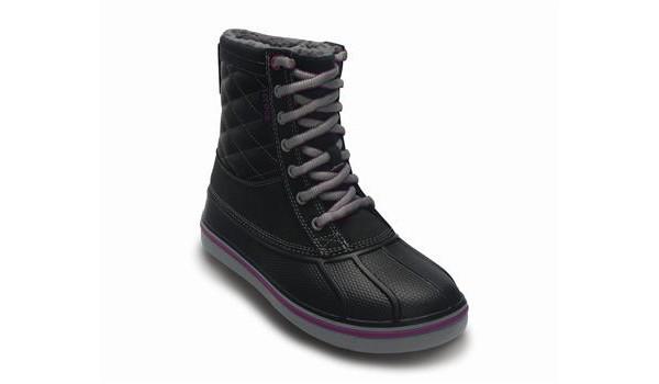 Duck Boot Women, Black/Light Grey 5