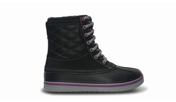 Duck Boot Women, Black/Light Grey 1