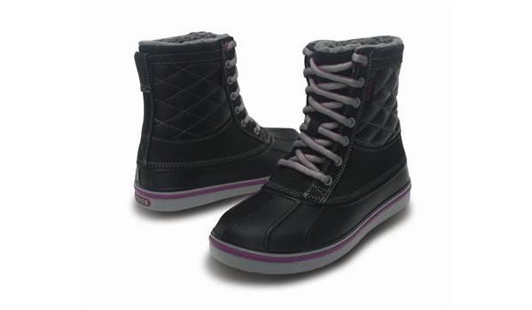 Duck Boot Women, Black/Light Grey 4