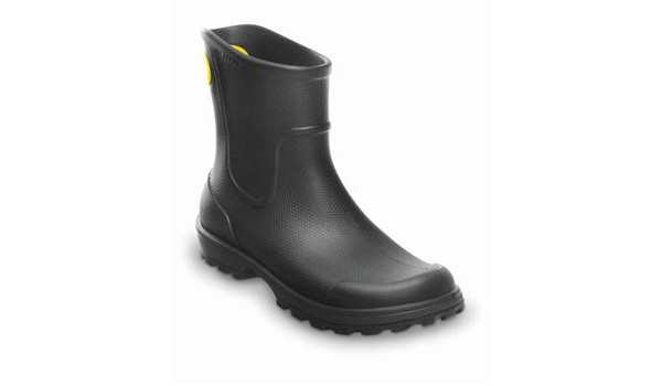 Wellie Rain Boot Men, Black 5