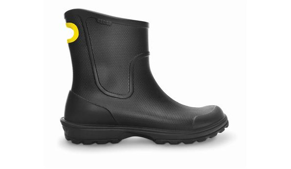Wellie Rain Boot Men, Black 1