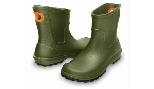 Wellie Rain Boot Men, Army Green 4