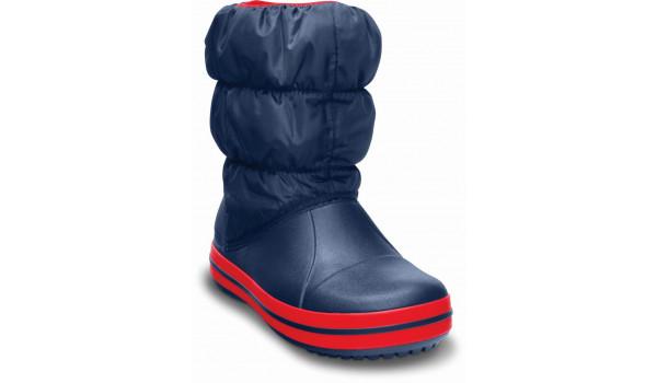 Kids Winter Puff Boot, Navy/Red 4