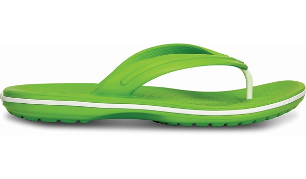 Crocband Flip, Volt Green/White 1