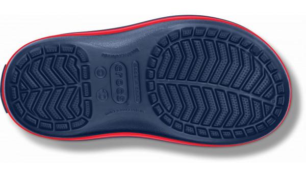 Kids Winter Puff Boot, Navy/Red 2