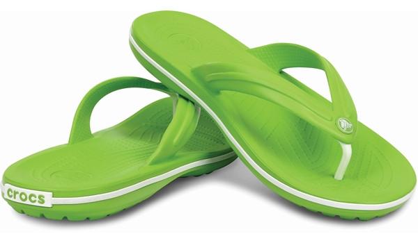 Crocband Flip, Volt Green/White 4