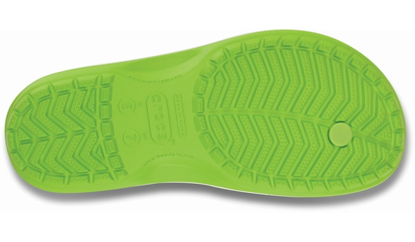 Crocband Flip, Volt Green/White 3