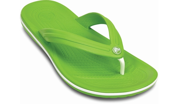 Crocband Flip, Volt Green/White 5