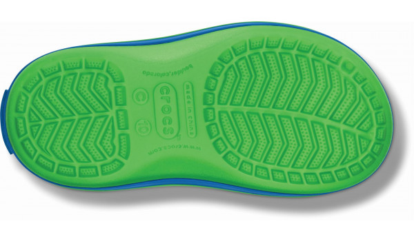 Kids Winter Puff Boot, Lime/Sea Blue 3
