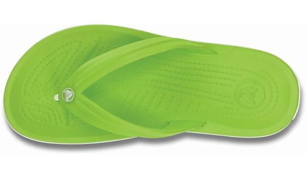 Crocband Flip, Volt Green/White 6