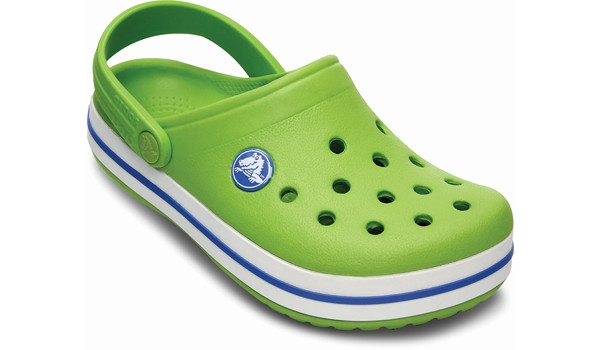 Kids Crocband, Volt Green/Varsity Blue 5