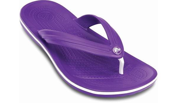 Crocband Flip, Neon Purple/White 5