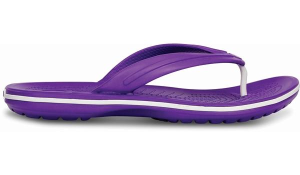 Crocband Flip, Neon Purple/White 1