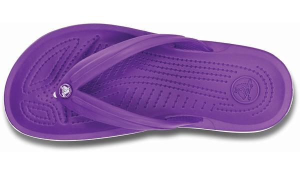 Crocband Flip, Neon Purple/White 6