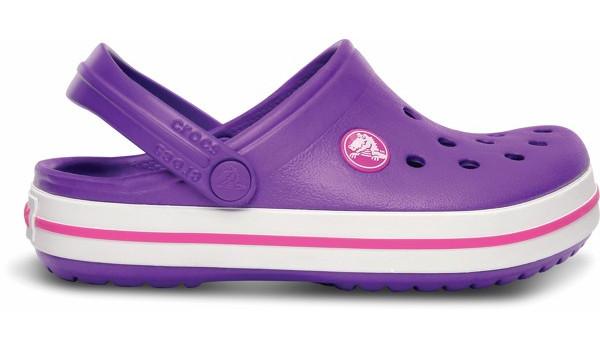 Kids Crocband White, Neon Purple/Neon Magenta 1