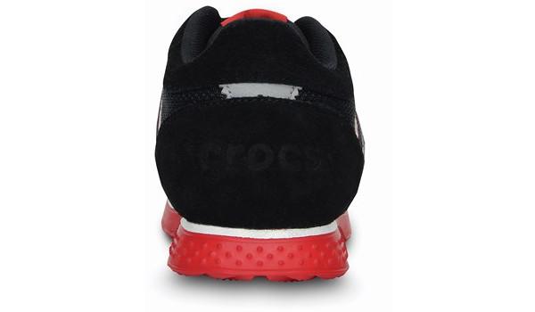 Kids Retro Sprint Sneaker, Black/Red 2
