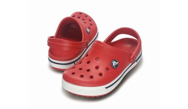 Kids Crocband 2.5 Clog, Red/Navy 4