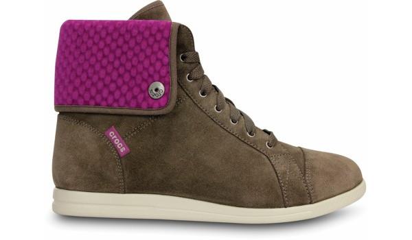 LoPro Suede HiTop Sneaker, Pewter/Viola 1