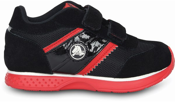 Kids Retro Sprint Sneaker, Black/Red 1