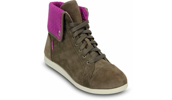 LoPro Suede HiTop Sneaker, Pewter/Viola 5