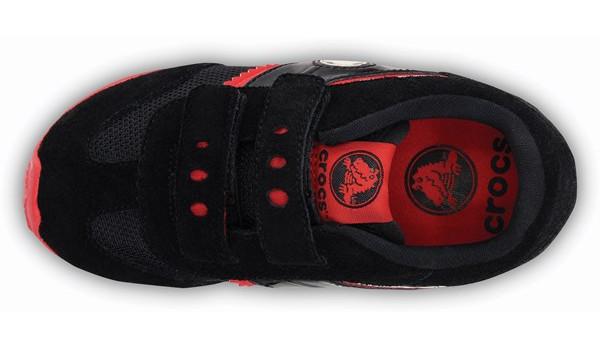 Kids Retro Sprint Sneaker, Black/Red 6