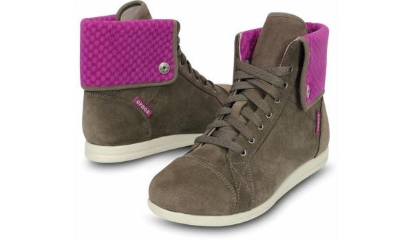 LoPro Suede HiTop Sneaker, Pewter/Viola 4