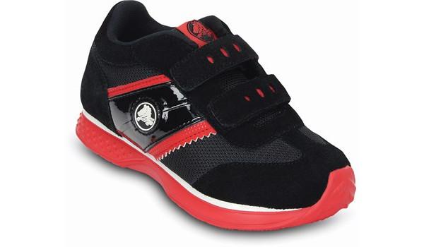 Kids Retro Sprint Sneaker, Black/Red 5