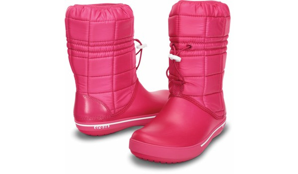Crocband 2.5 Winter Boot, Raspberry/White 4