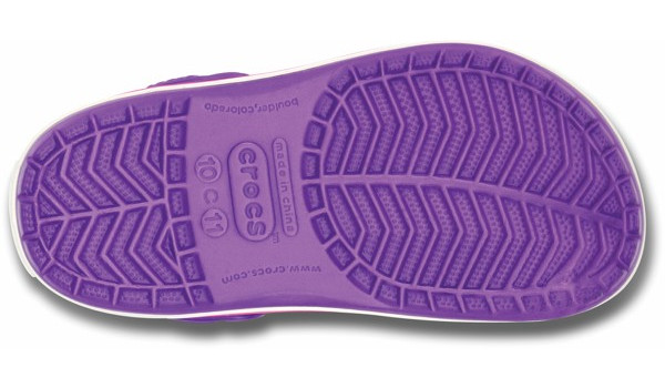 Kids Crocband White, Neon Purple/Neon Magenta 3