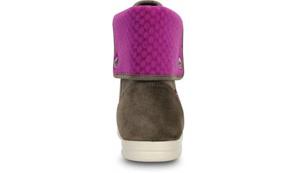 LoPro Suede HiTop Sneaker, Pewter/Viola 2