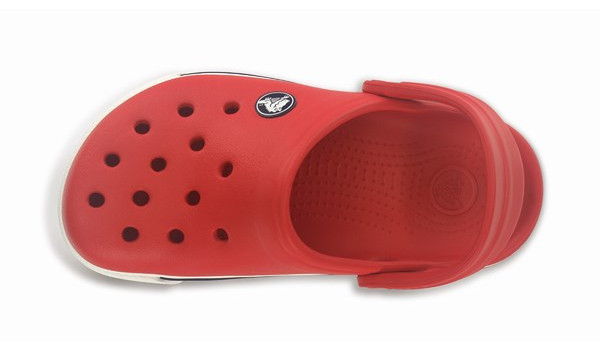 Kids Crocband 2.5 Clog, Red/Navy 6