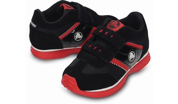 Kids Retro Sprint Sneaker, Black/Red 4