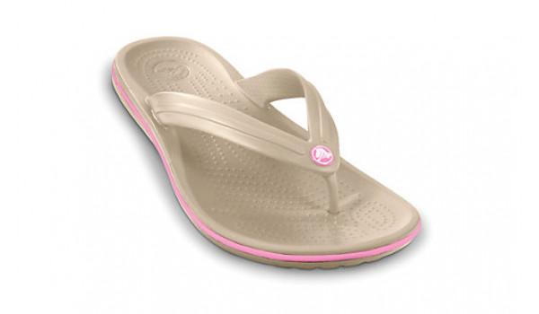 Crocband Flip, Stucco/PinkLemonade 6