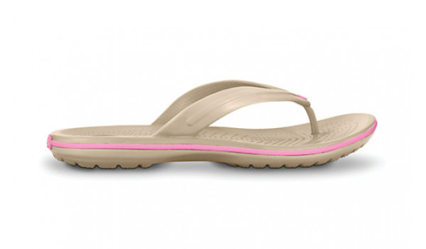 Crocband Flip, Stucco/PinkLemonade 1