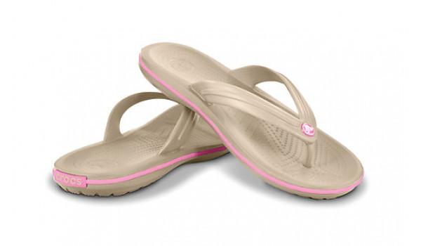 Crocband Flip, Stucco/PinkLemonade