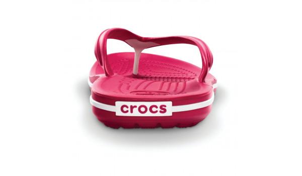 Crocband Flip, Raspberry/White2
