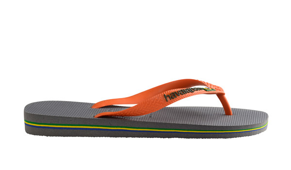 Brasil Logo Flip, Steel Grey/Neon Orange 2