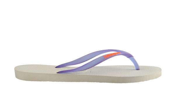 Slim Logo Flip, White/Purple 2