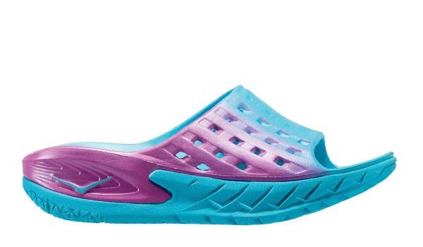 Ora Recovery Slide Women, Blue Atol/Pink 1