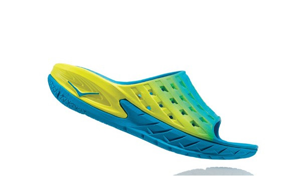 Ora Recovery Slide Men, Blue/Citrus 2