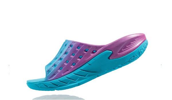 Ora Recovery Slide Women, Blue Atol/Pink 5
