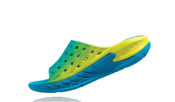 Ora Recovery Slide Men, Blue/Citrus 5