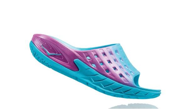 Ora Recovery Slide Women, Blue Atol/Pink 2