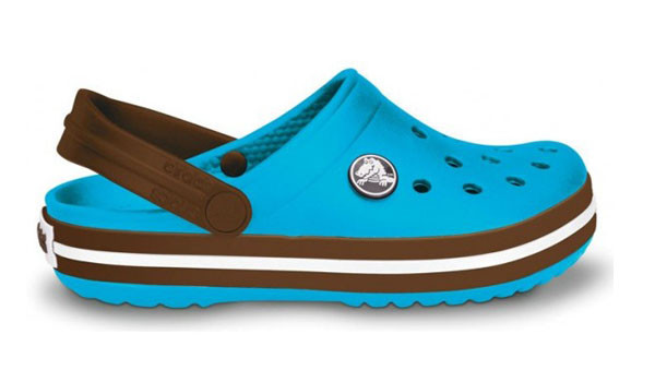 Kids Crocband, Electric Blue/Brown 1
