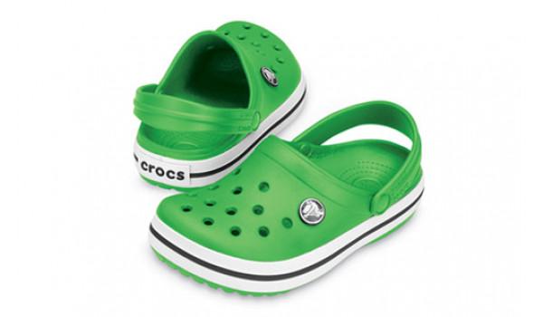 Kids Crocband White, Lime/Lime 4