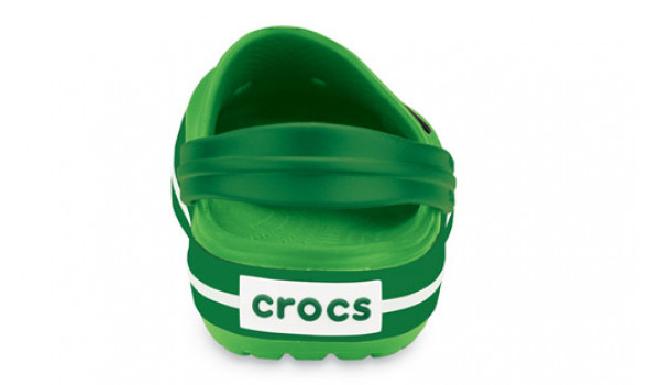 Kids Crocband White, Lime/Kelly Green 2